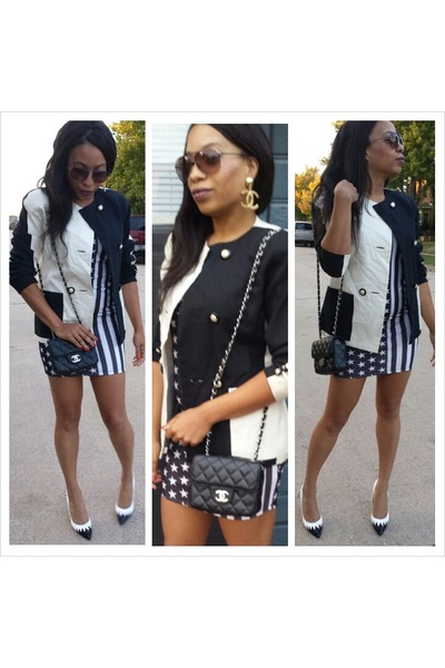 Chanel Bag Neiman Marcus Blazer Asos Heels Earrings