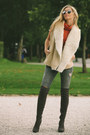 Charcoal-gray-suede-river-island-boots-heather-gray-ripped-zara-jeans