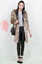 Leopard Soft Furry Longline Coat