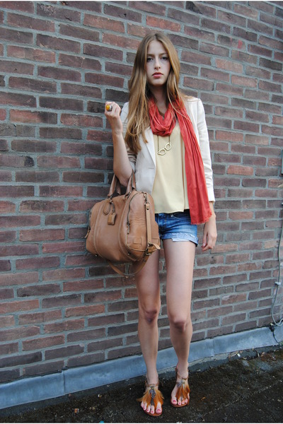Zara jacket - Mango scarf - Massimo Dutti bag - Aldo sandals