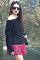 c&a sweater - abercrombie and fitch skirt