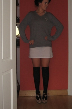 H&M sweater - Topshop dress -  socks - Primark shoes -