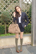 joseph blazer - Gucci bag - D&G wedges