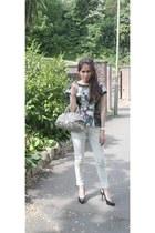 sass & bide jeans - snakeskin Gucci bag - D&G top - Gucci heels