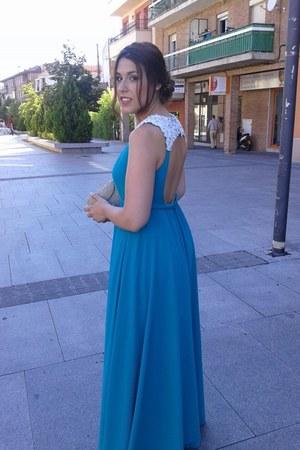 turquoise blue raquelmusa dress