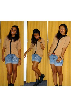 mustard Forever 21 blouse