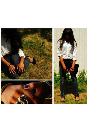 Aldo accessories - jeans - jeans - H&M shirt - DIY Oversized Clutch bag