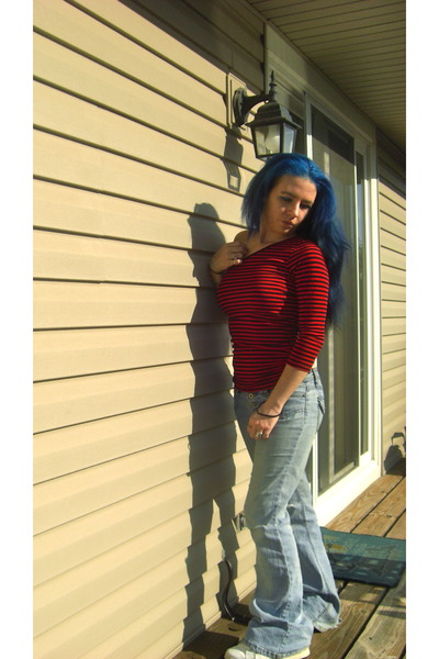 red One &hearts shirt - blue angels jeans