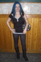 black decree boots - black Attention purse - black Dream OutLoud jeans - black s