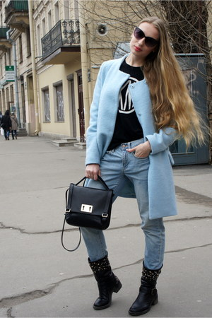 Zara coat - Gap jeans - DKNY sweater - Furla bag - Furla sunglasses