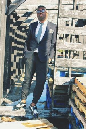 charcoal gray wool JCrew tie