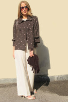 bubble gum sportmax shirt - brown Gucci bag - pink Prada heels