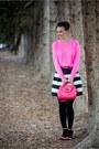 Bubble-gum-jcrew-sweater-black-chicwish-skirt-white-topaz-anzie-accessories