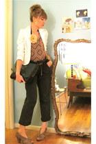 taupe Miss Albright heels - white Forever 21 blazer