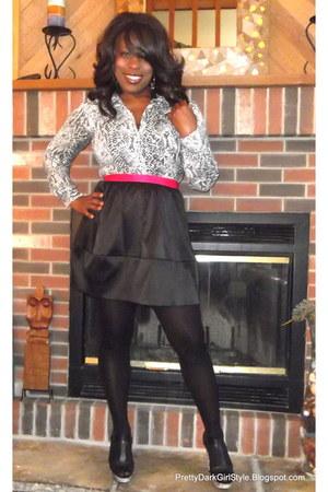 white sa thrift Snakeskin Blouse blouse - hot pink vintage blazer
