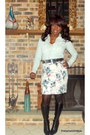 Nine-west-boots-chambray-charlotte-russe-shirt-sequin-h-m-skirt