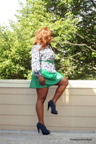 lulus skirt - Salvation Army blouse - Bakers heels