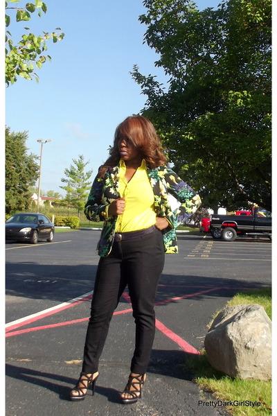 Forever 21 blazer - Express shirt - H&M pants - Bakers heels