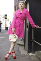 hot pink trench coat Pretty Disturbia Vintage coat