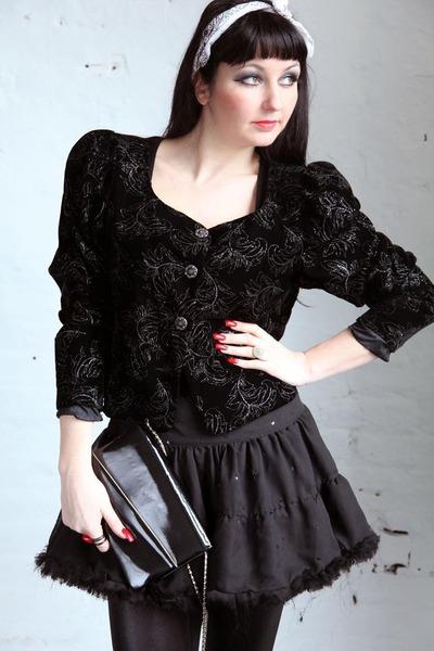 black 1980s style Pretty Disturbia Vintage jacket