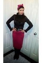 Pretty Disturbia jacket - Prada boots - Topshop skirt