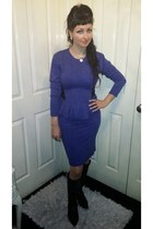 vintage dress - Prada boots - sliver Tiffany necklace