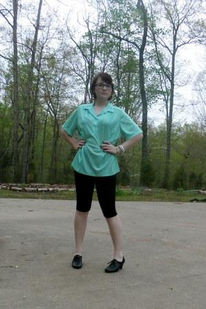aquamarine Nikki blouse - black predictions heels