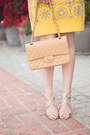 Yellow-juicy-couture-dress-tan-chanel-bag-gold-jimmy-choo-sandals