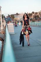 black Alice and Olivia skirt - navy Anthropologie jacket