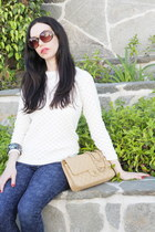 ted baker sweater - Liberty for AG Adriano Goldschmeid jeans - Chanel bag