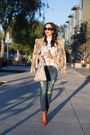 Brown-calvin-klein-boots-camel-alice-and-olivia-jacket