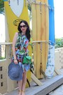 Sky-blue-juicy-couture-dress-green-furla-bag-gold-lilly-for-target-wedges