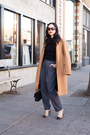 Camel-zara-coat-ivory-kiel-james-patrick-earrings-gray-pixie-market-pants
