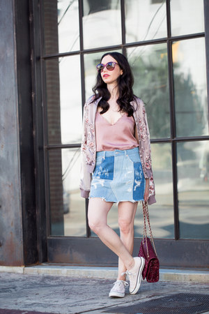 sky blue Sunset and Spring skirt - light pink Lovers and Friends jacket