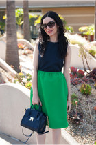 green Marc by Marc Jacobs dress - navy Tommy Hilfiger bag - beige BCBG heels