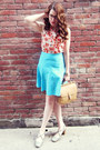 Camel-vintage-coach-bag-peach-joe-fresh-style-blouse-sky-blue-diy-skirt