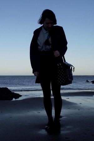 vintage blazer - Topshop shoes - vintage blouse - vintage skirt