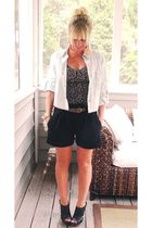 Hallelu shorts - thrift belt - Hallelu jacket - Dollhouse shoes - thrift top - M