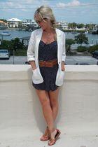lark & wolf jacket - Urban Outfitters shoes - blue romber Hallelu dress