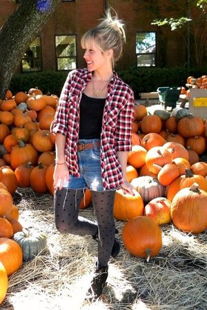 Levis shorts - Forever 21 shirt - seychelles boots - Jcrew tights