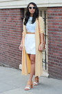 Light-yellow-saks-fifth-ave-collection-jacket-white-dolce-vita-skirt