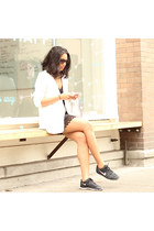 Dolce Vita dress - tildon blazer - nike sneakers