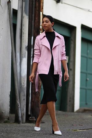 Aritzia dress - Endless Rose jacket - Marc Fisher heels