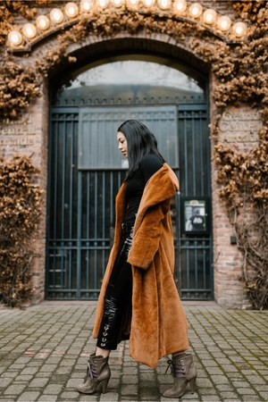 Urban Outfitters coat - IRO boots - Mango pants