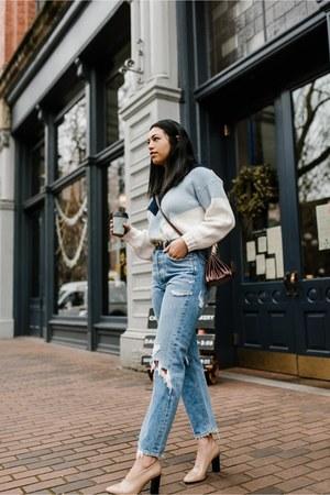 asos sweater - Agolde jeans - Via Spiga heels