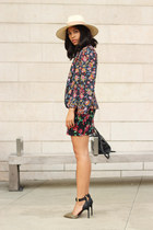 free people hat - Topshop blazer - Dolce Vita skirt - Dolce Vita heels