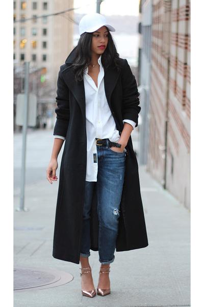 Anne Klein coat - Gap jeans - Cambridge Classics shirt - Zara pumps