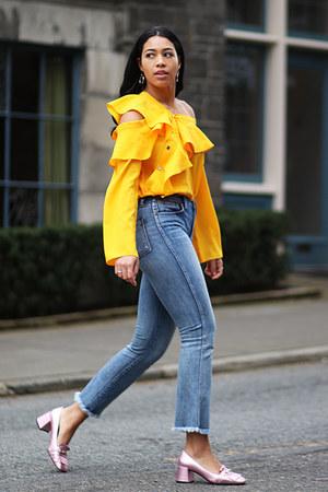 storets top - madewell jeans - Topshop heels
