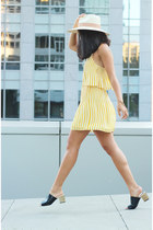 free people hat - Dolce Vita dress - Zara sandals