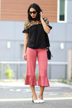 Sheinside blouse - asos pants - Marc Fisher pumps